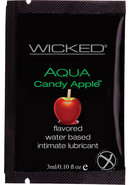 Wicked Aqua Flavored Water Based Foil Packs Candy Apple .10...