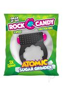 Rock Candy Atomic Sugar Grinder Vibrating Cock Ring - Black