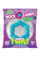 Rock Candy Taffy Twist Cock Ring - Blue